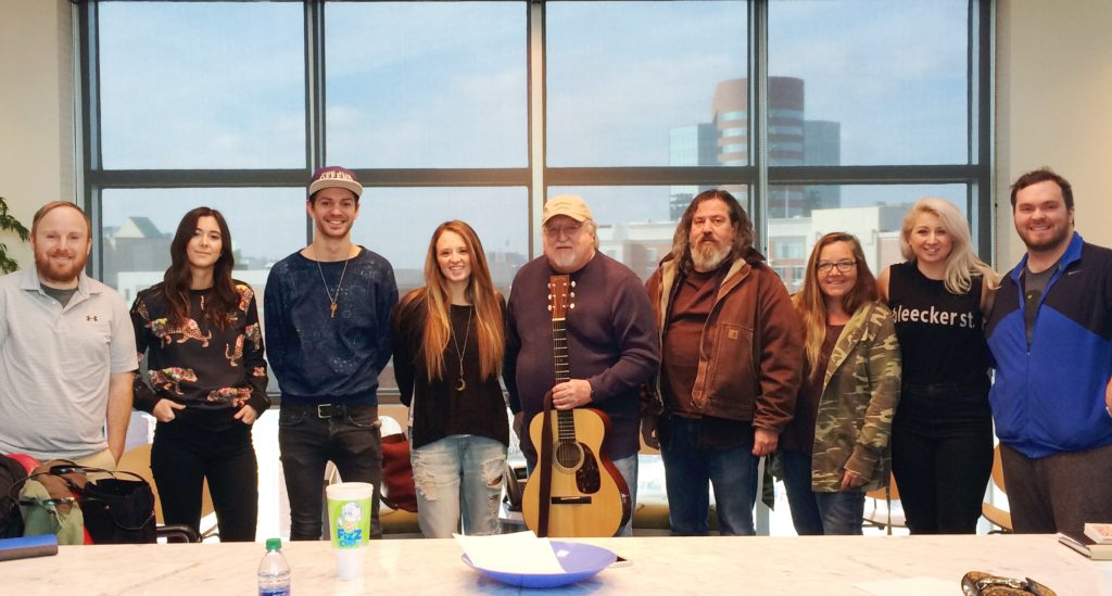 Pictured (L-R): Stephen Gage, Courtney Drummey, Isaac Fox, Emily Hackett, Pat Alger, Jonathan Helfand, Robyn Collins, Jenny Ray and Blake Rackley