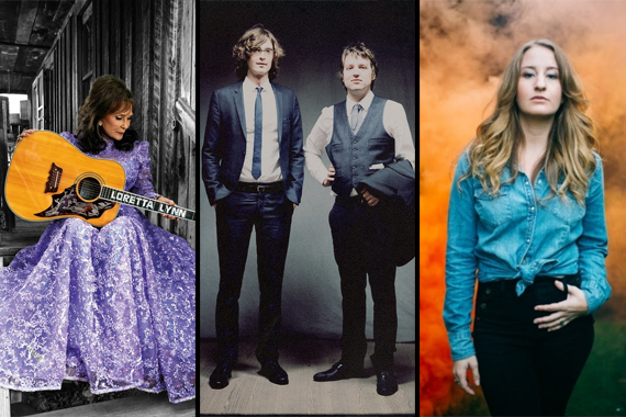 Pictured (L-R): Loretta Lynn, The Milk Carton Kids, Margo Price