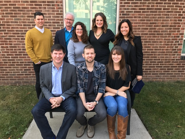 Back Row: Jesse Willoughby, Kobalt; Cliff Downs, President, Young Guns; Stephanie Cox, Kobalt; Mary Lauren Teague, Loeb and Loeb; Laura Alexander, Kobalt Front Row: Will Hamrick, VP/GM, Young Guns; Brandon Hood, writer, Young Guns; Aubrey Rupe, Creative Director, Young Guns