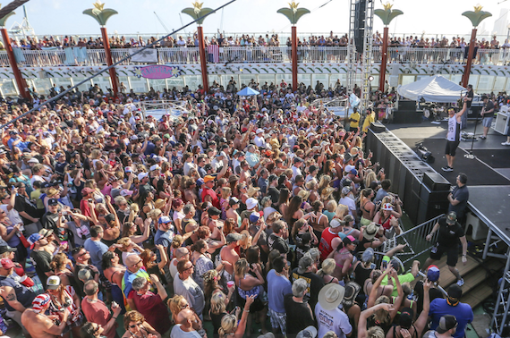 Kid Rock performs during one of his Chillin' The Most cruises. Photo: Will Byington
