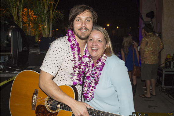 BMI songwriters Charlie Worsham (L) and Liz Rose (R) pose before their show at the Grand Wailea. Photo: Erika Goldring