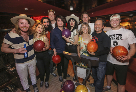 Nikki Lane goes bowling with fans during the 2016 Outlaw Country Cruise. Photo: Will Byington