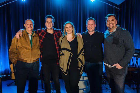 Pictured (L-R): THIEL Audio CEO Tom Malatesta, Dickerson, Dennis Entertainment's Grace Schoper, APA's Jim Butler, host Storme Warren