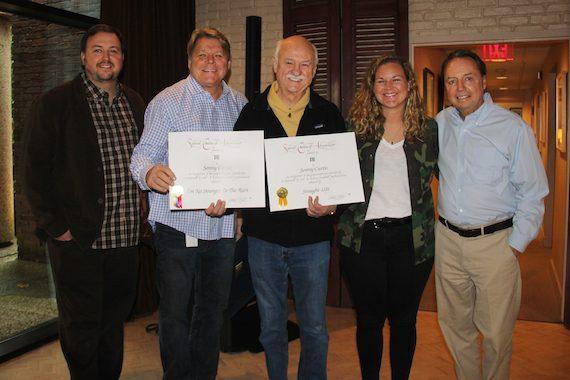Pictured (L-R): BMI's Mason Hunter and David Preston, BMI songwriter Sonny Curtis and BMI's Nina Carter and Jody Williams.