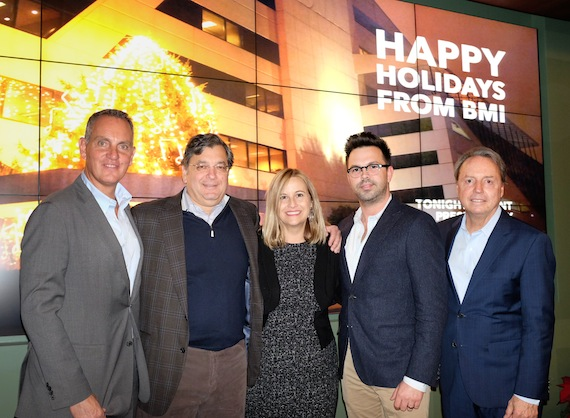 Pictured: (L-R): BMI's Mike O'Neill, Anderson Benson's George Anderson, Mayor Megan Barry, Anderson Benson's Brent Daughrity and BMI's Jody Williams. Photo: Steve Lowry.