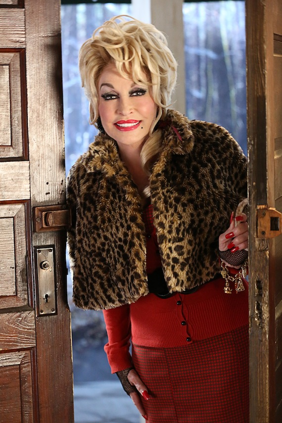 Dolly Parton as Painted Lady in Christmas of Many Colors. Photo: Quantrell Colbert/NBC